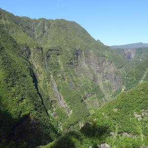 La vallée du Takamaka, à l'est de l'île de la Réunion