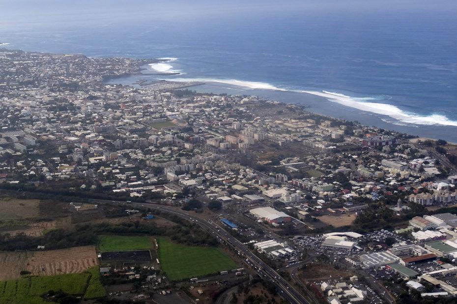 Vue aérienne de Saint-Pierre de la Réunion