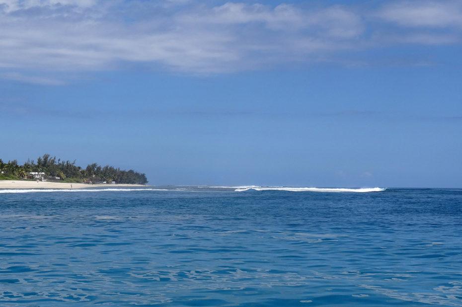 Vue sur l'océan depuis le bateau