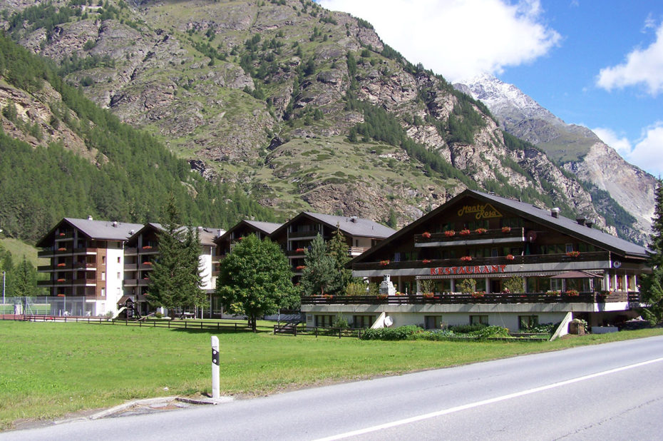 L'appart'hôtel restaurant Monte Rosa à Täsch