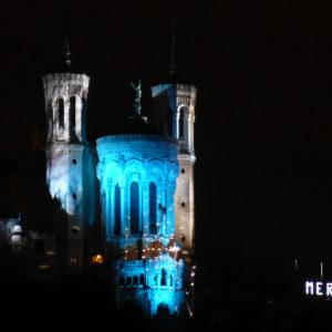 La Basilique de Fourvière pour la Fête des Lumières