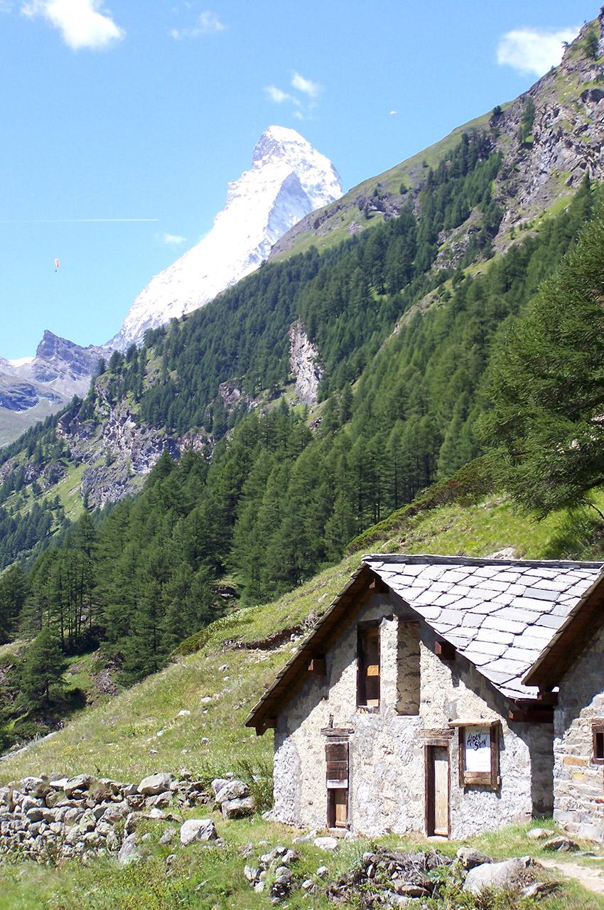 Le Cervin depuis les alpages avant Zermatt