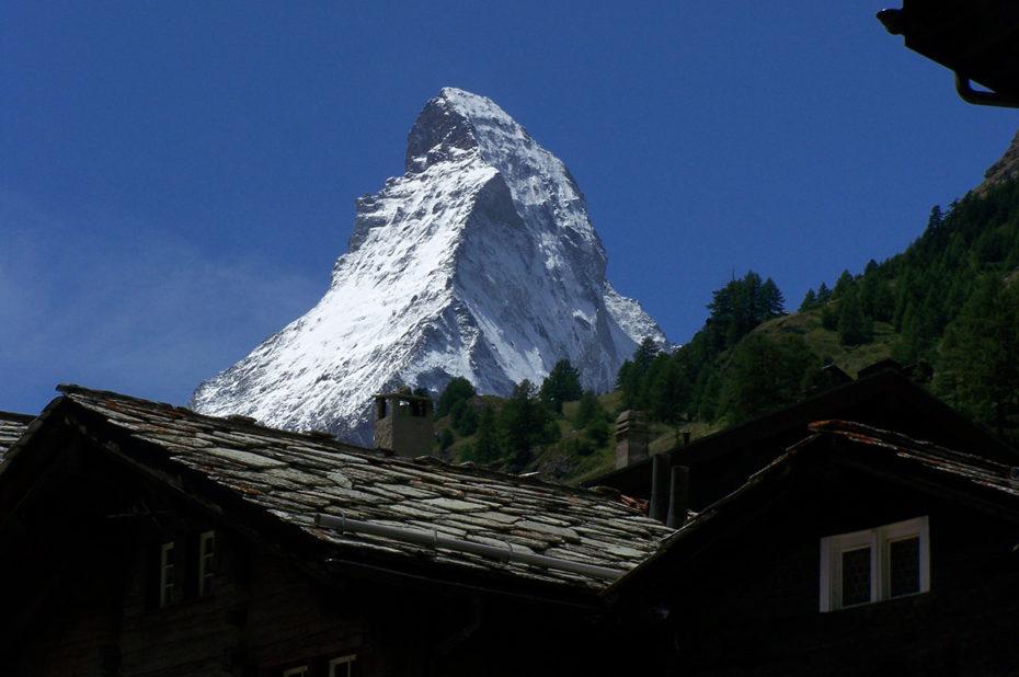 anciens chalets Zermatt majesté Cervin