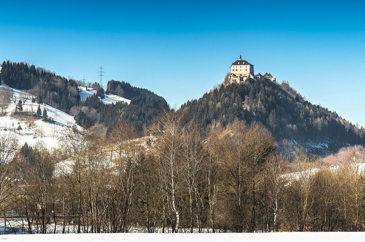 Château de Strechau en hiver