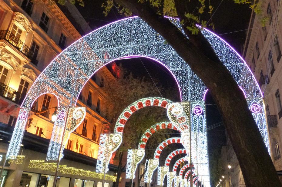 Illuminations sur la rue de la République