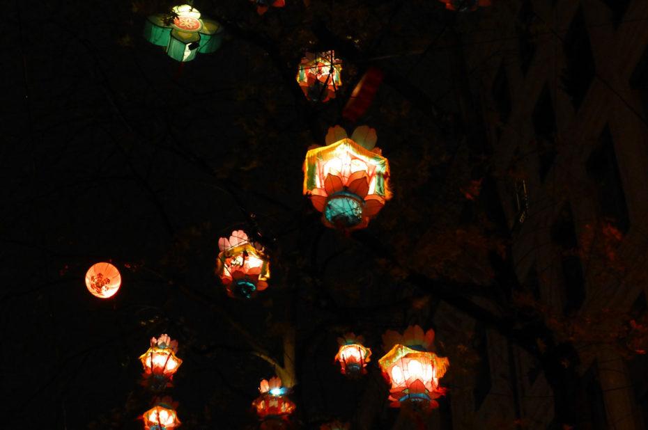Lanternes offertes par Canton (Chine)