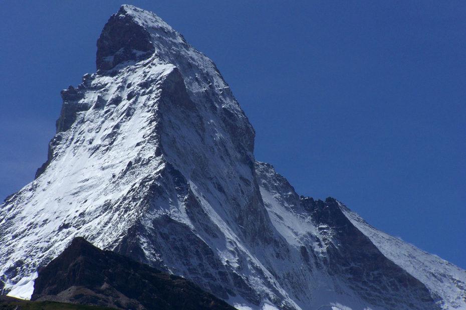 Le mont Cervin culmine à 4 478 m d'altitude