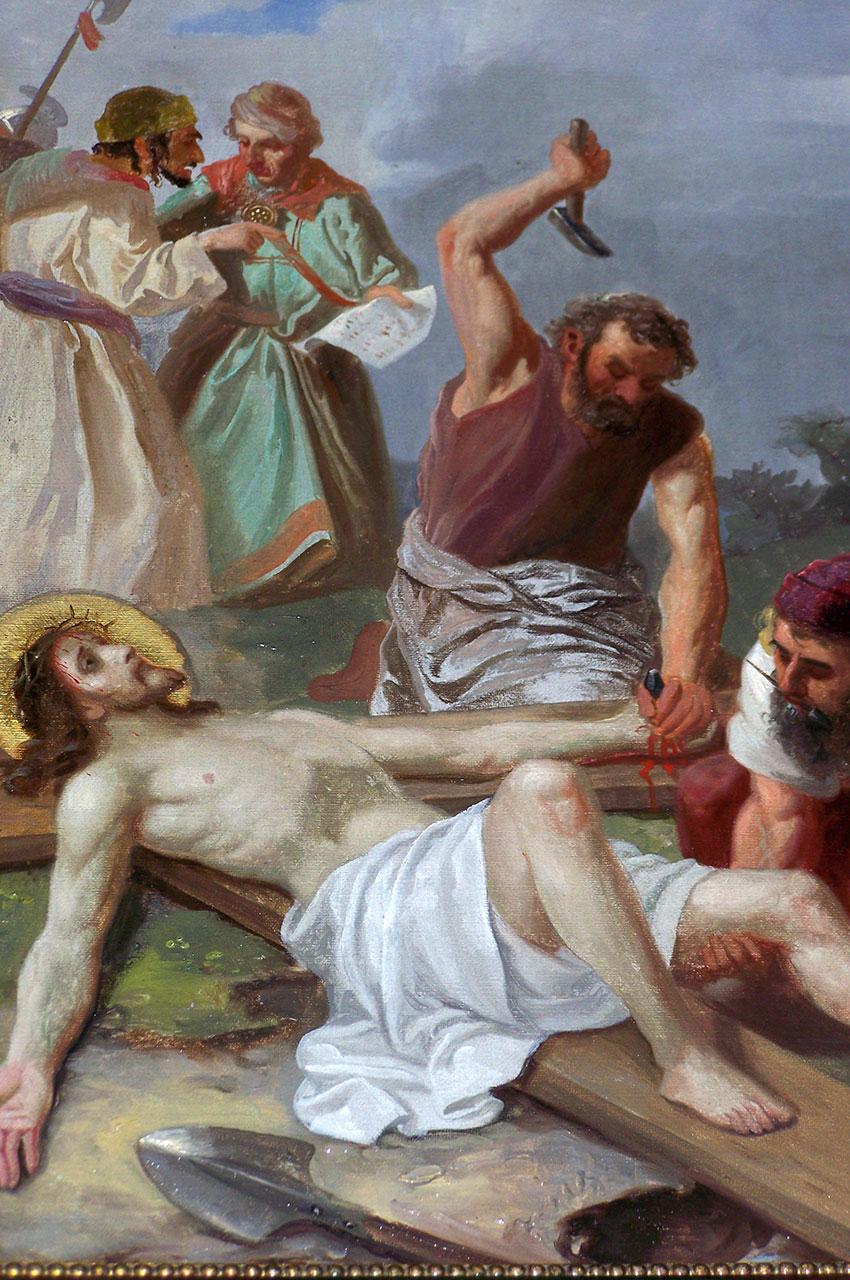Peinture Le Christ mis en croix