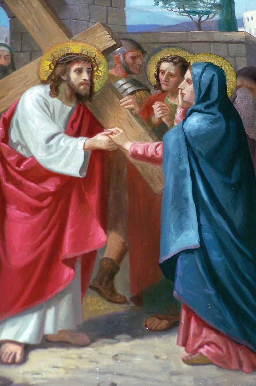 Peinture Le Christ portant la Croix