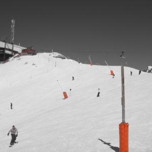Sur les pistes de ski à l'Alpe d'Huez