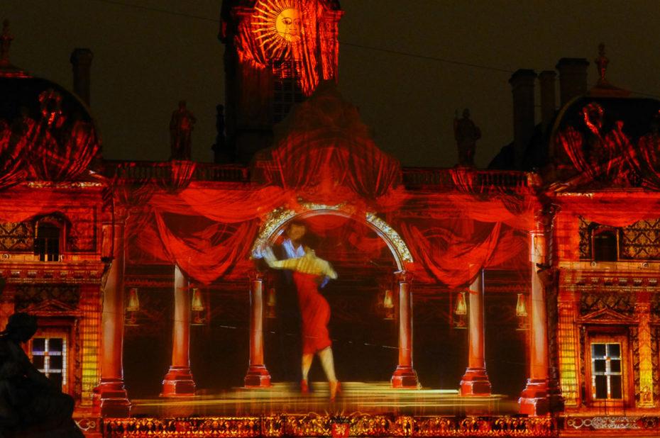 Projection des artistes de l'Opéra