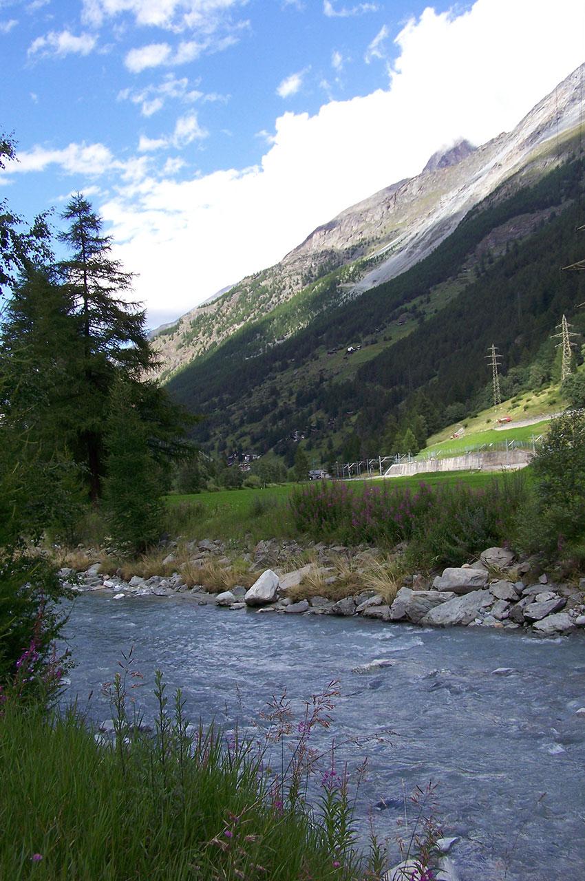 La rivière Vispa à Täsch