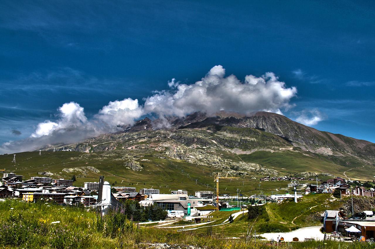 La station de l'Alpe d'Huez en été