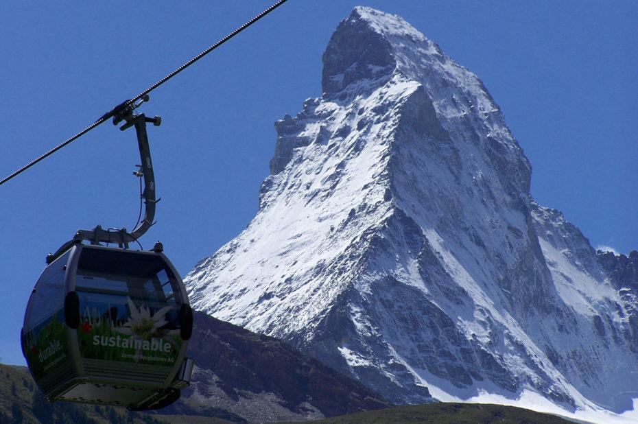 Premier tronçon du télécabine Zermatt-Furi
