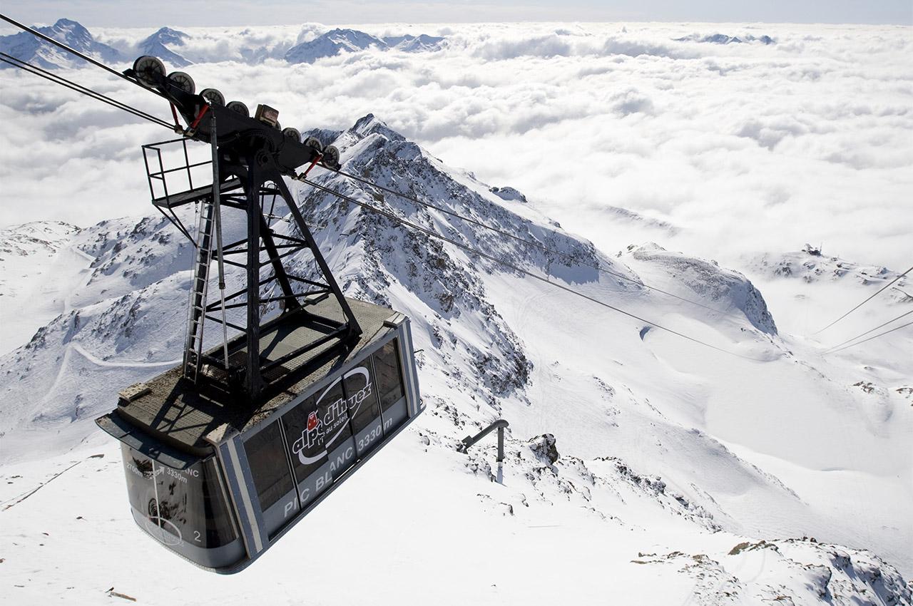 Téléphérique du Pic Blanc à l'Alpe d'Huez