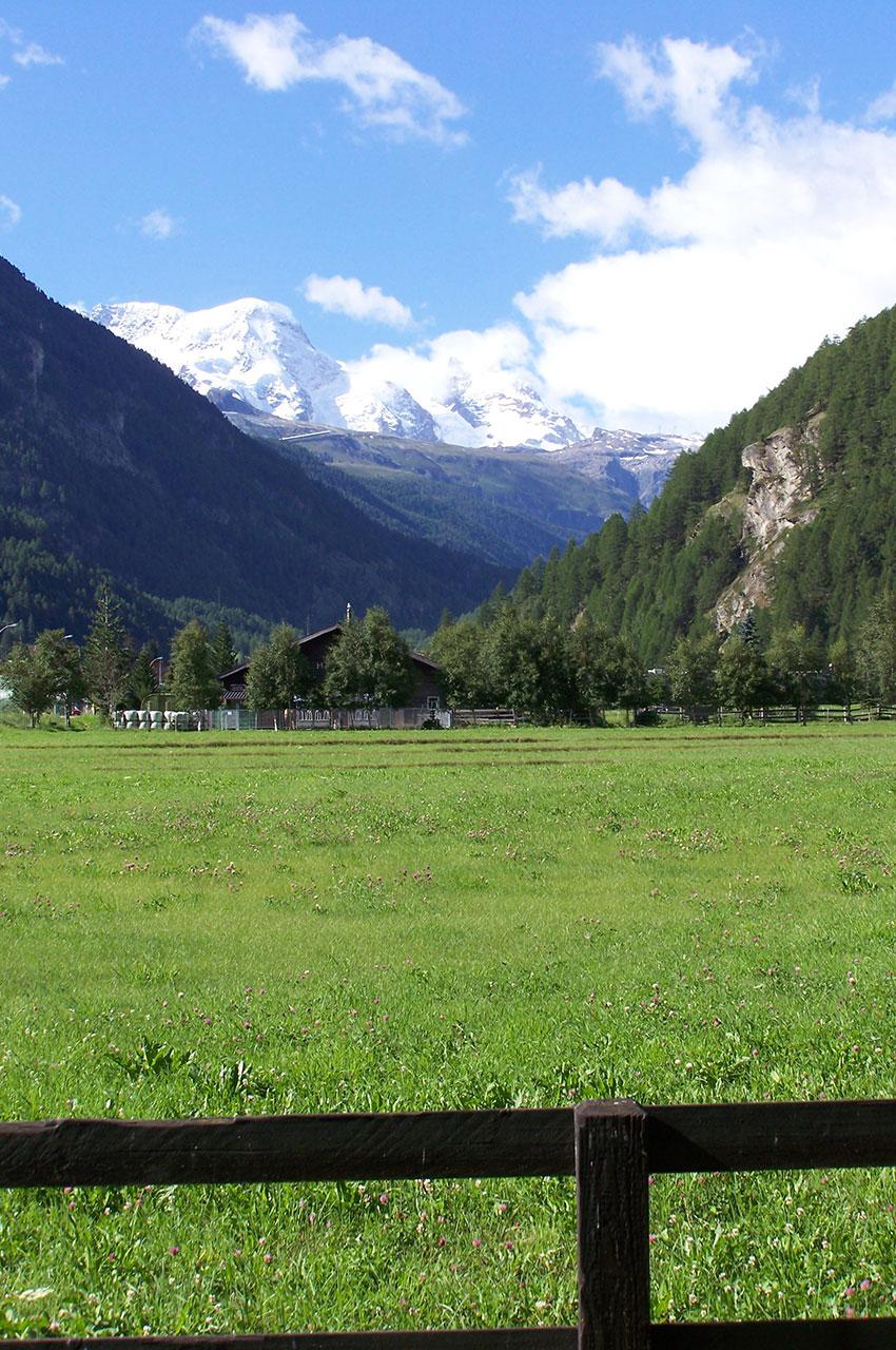 La vallée de Zermatt depuis Täsch