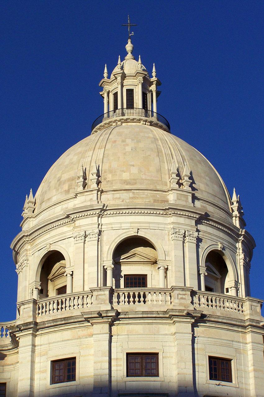 Le dôme du Panthéon National à Lisbonne