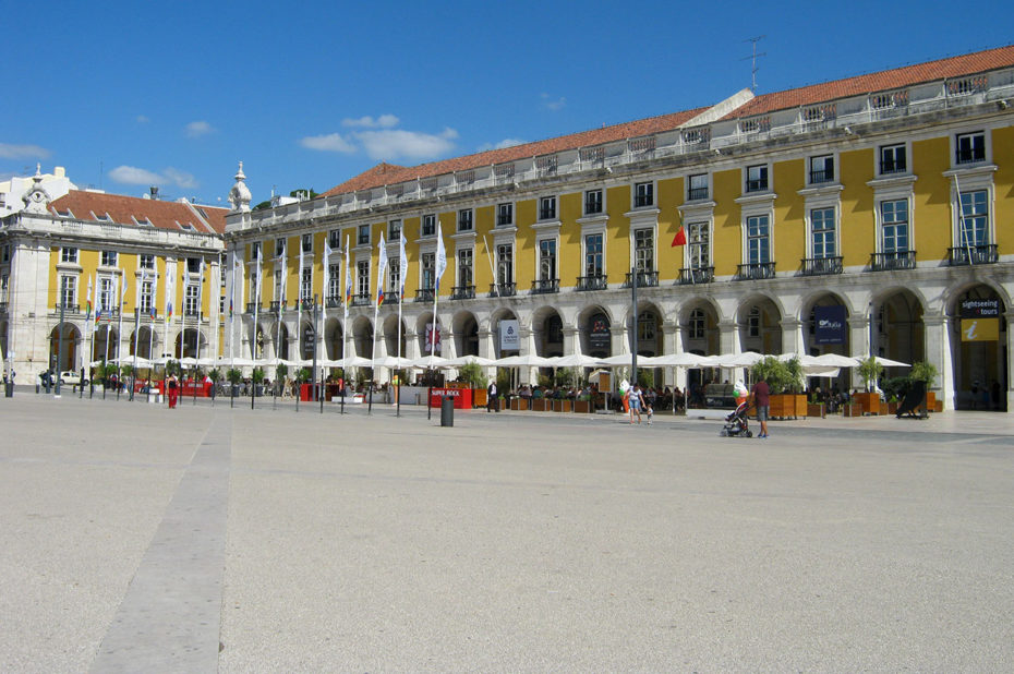 Praça do Comércio (place du Commerce) à Lisbonne