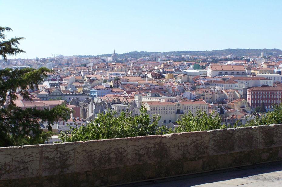 Vue magnifique sur la ville de Lisbonne