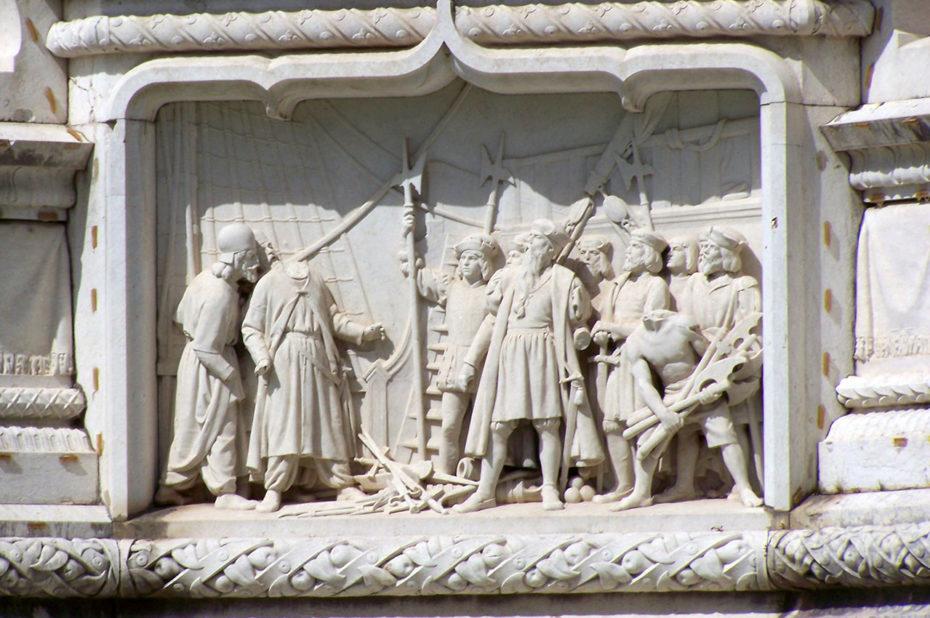 Bas-relief sur la vie d'Afonso de Albuquerque