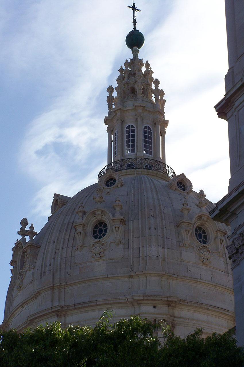 Le magnifique dôme de la Basilique d'Estrela