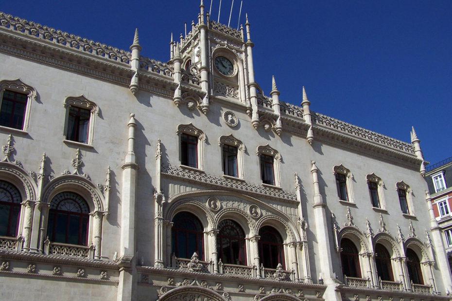 Gare du Rossio dans le centre-ville de Lisbonne