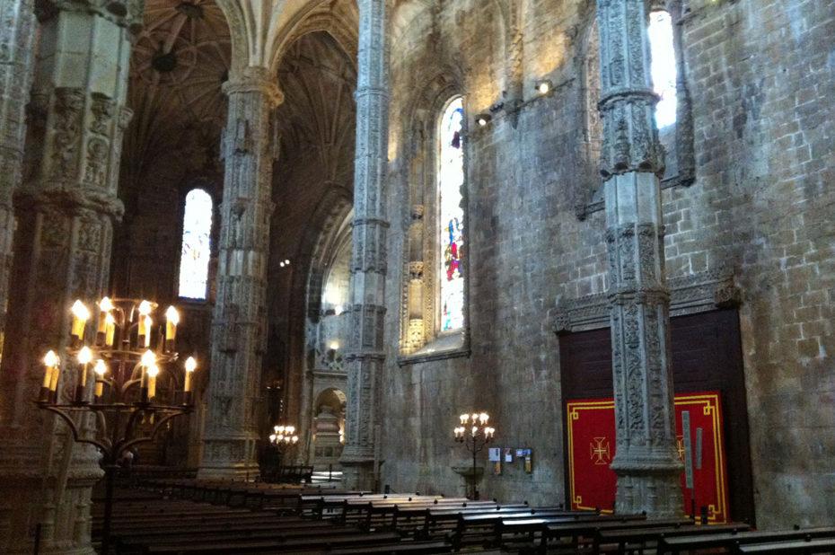 La haute nef de l'église du monastère