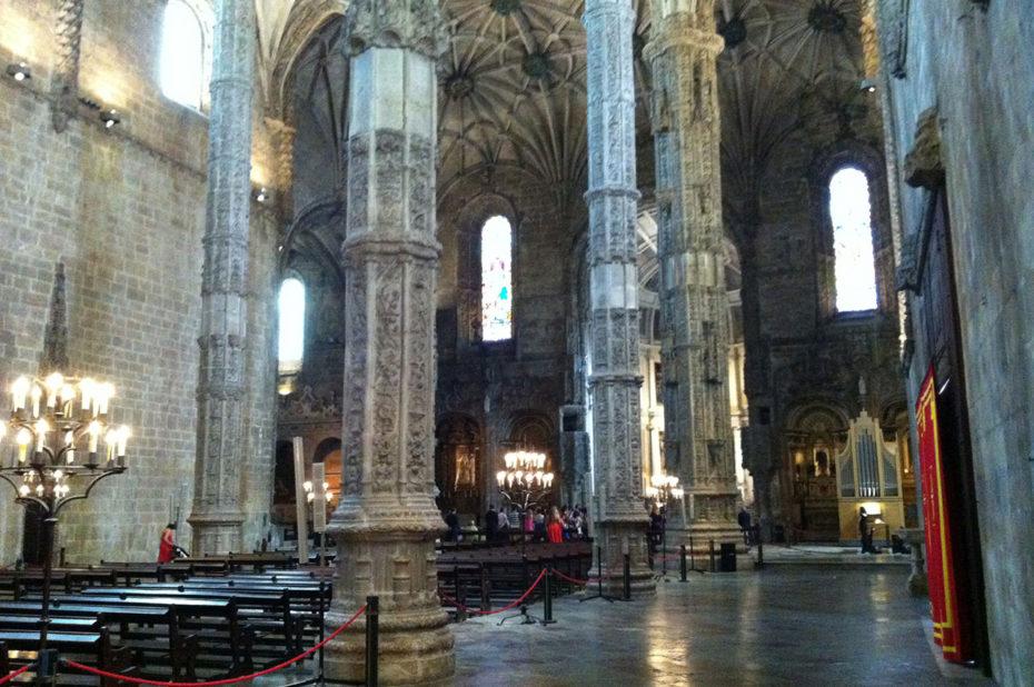 L'intérieur du Monastère des Hiéronymites