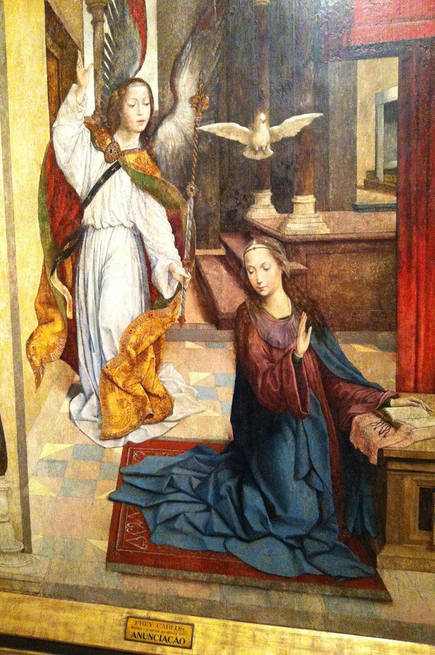 Peinture L'Annonciation à Marie