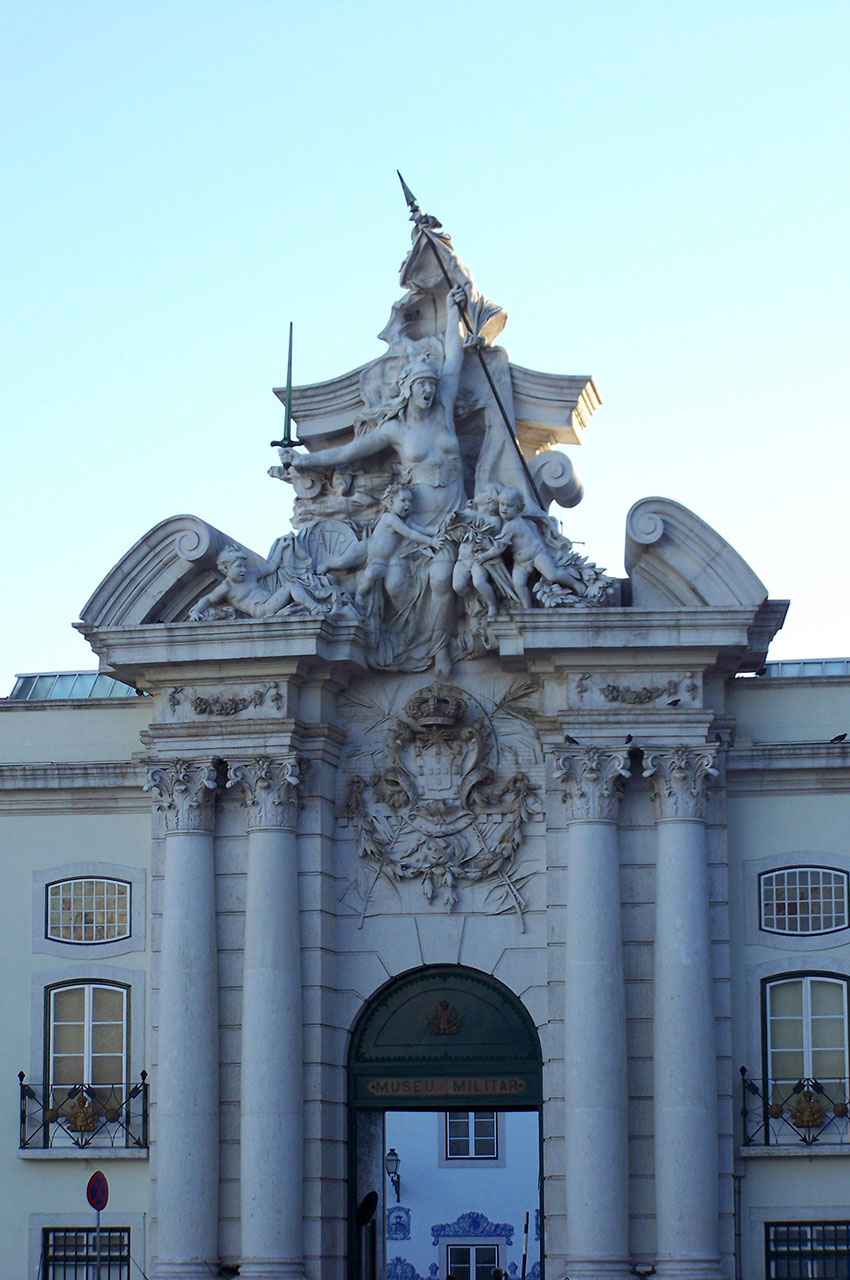 Portique d'entrée du musée militaire
