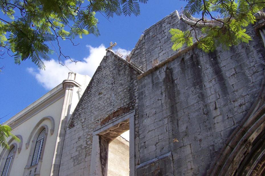 Les ruines du couvent des Carmes sur Largo do Carmo