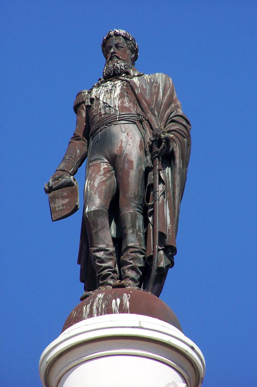 Statue de Dom Pedro IV, vue de près