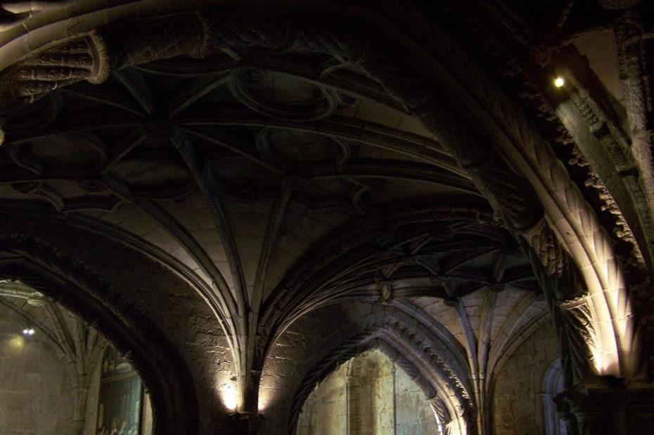 Voûte de la crypte de l'église Santa Maria