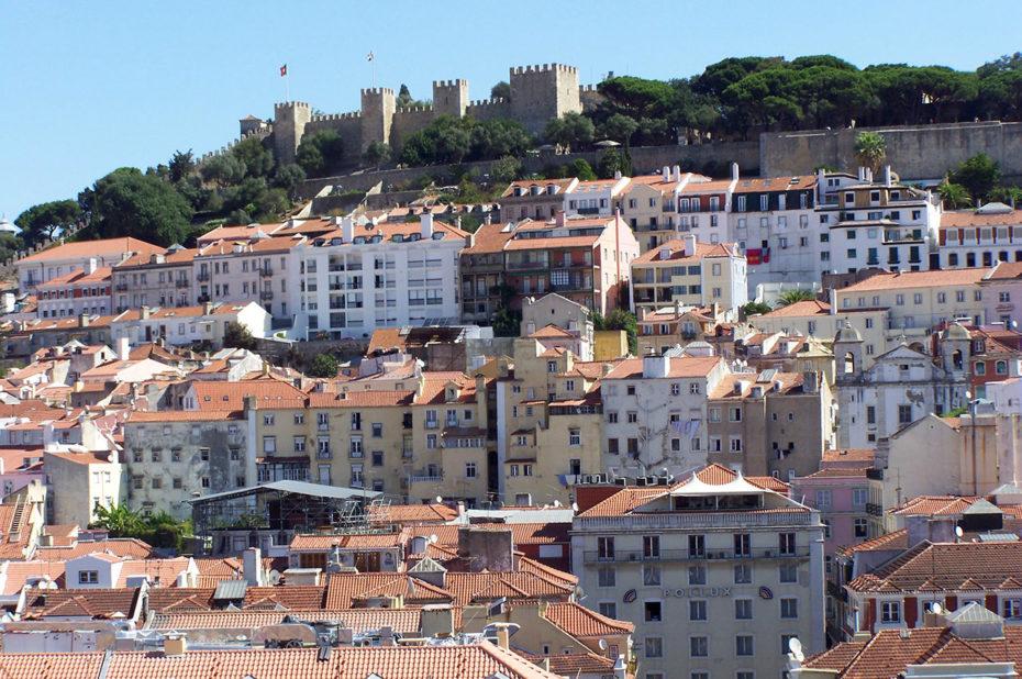 Vue sur le Château Saint-Georges depuis le Couvent