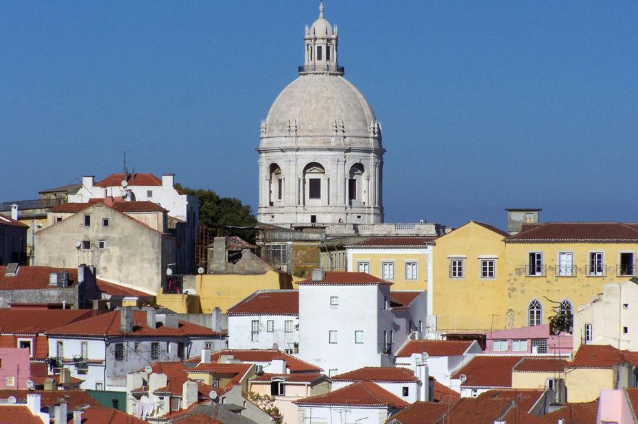 Vue sur Lisbonne depuis le miradouro de Santa Luzia