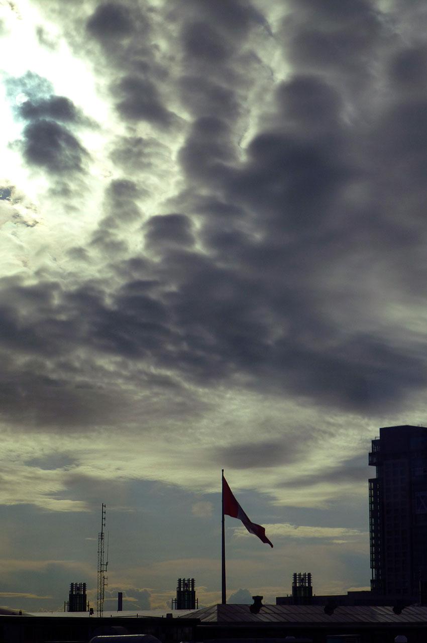 Ciel nuageux sur Toronto