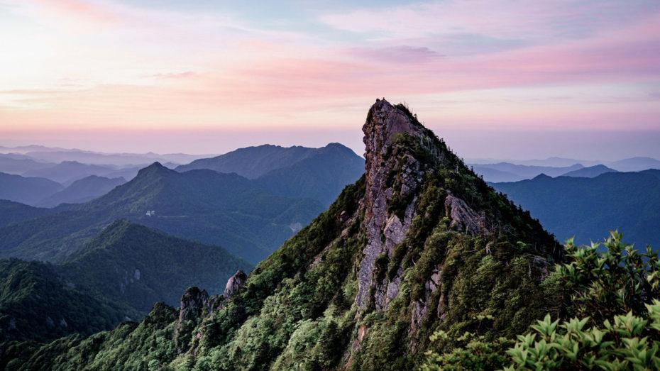 Le mont Ishizuchi, toit de l'île de Shikoku