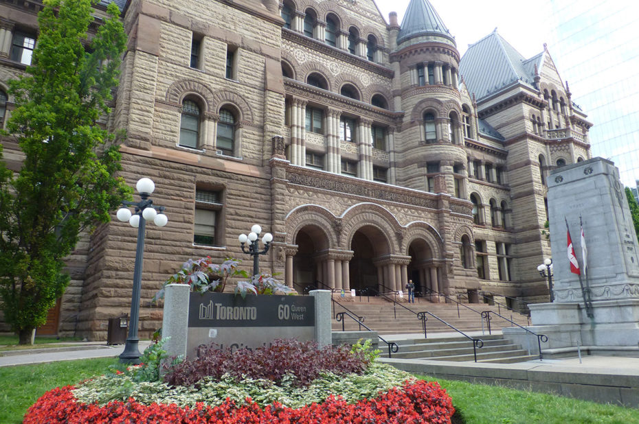 Le palais de justice de Toronto