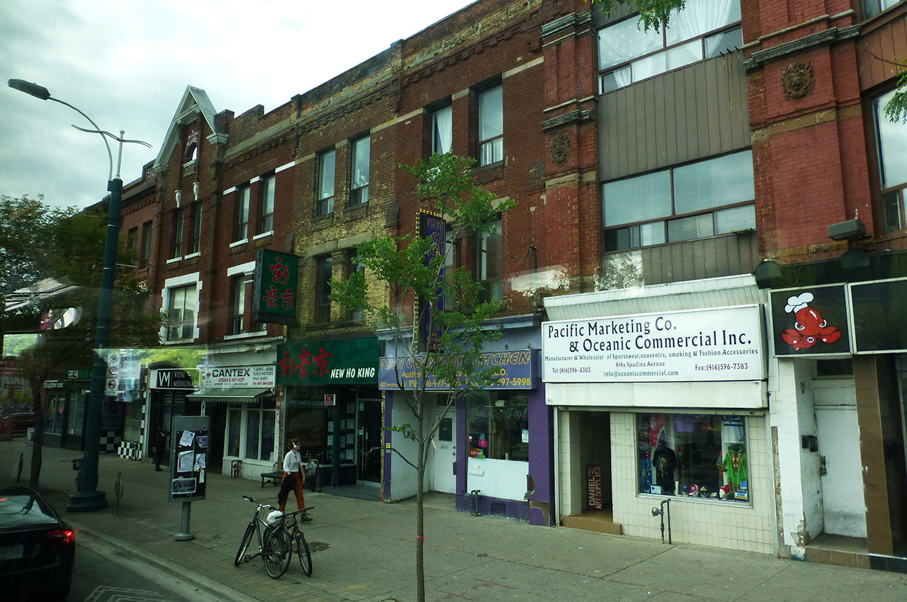 Une rue du quartier chinois de Toronto