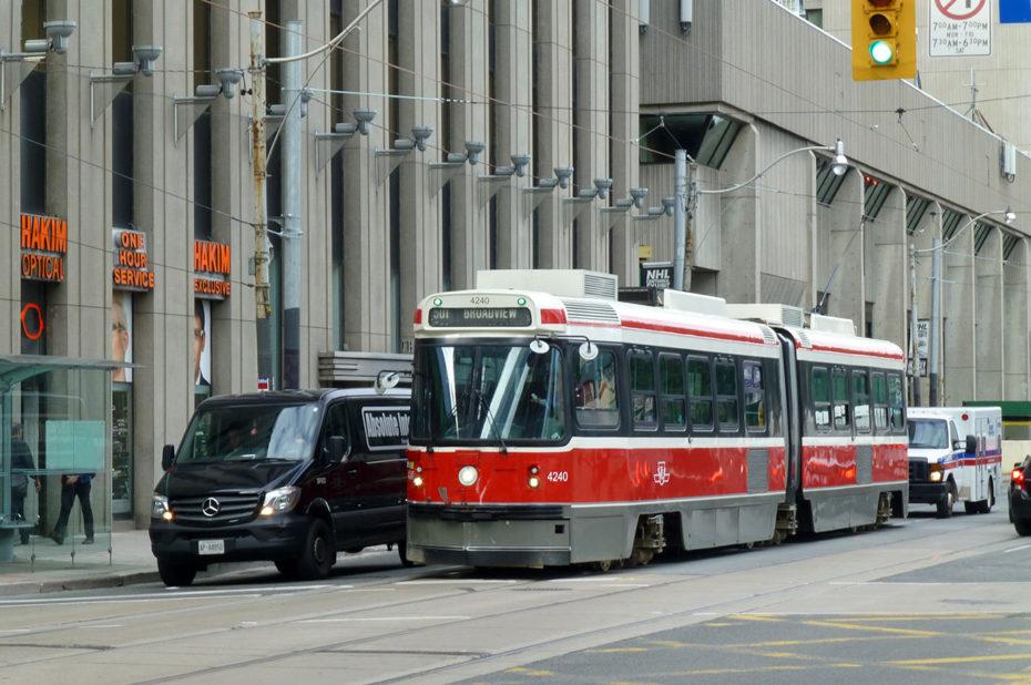 Le tramway au cœur de Toronto