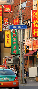 Le quartier Chinatown à Toronto