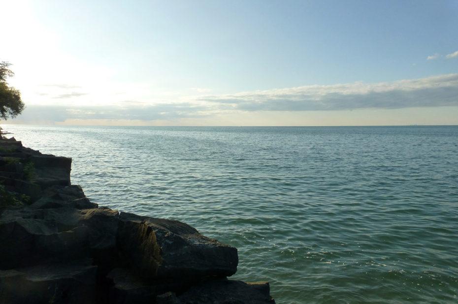 Fin d'après-midi sur les bords du lac Ontario