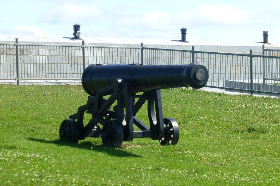 Un des canons au Fort Henry