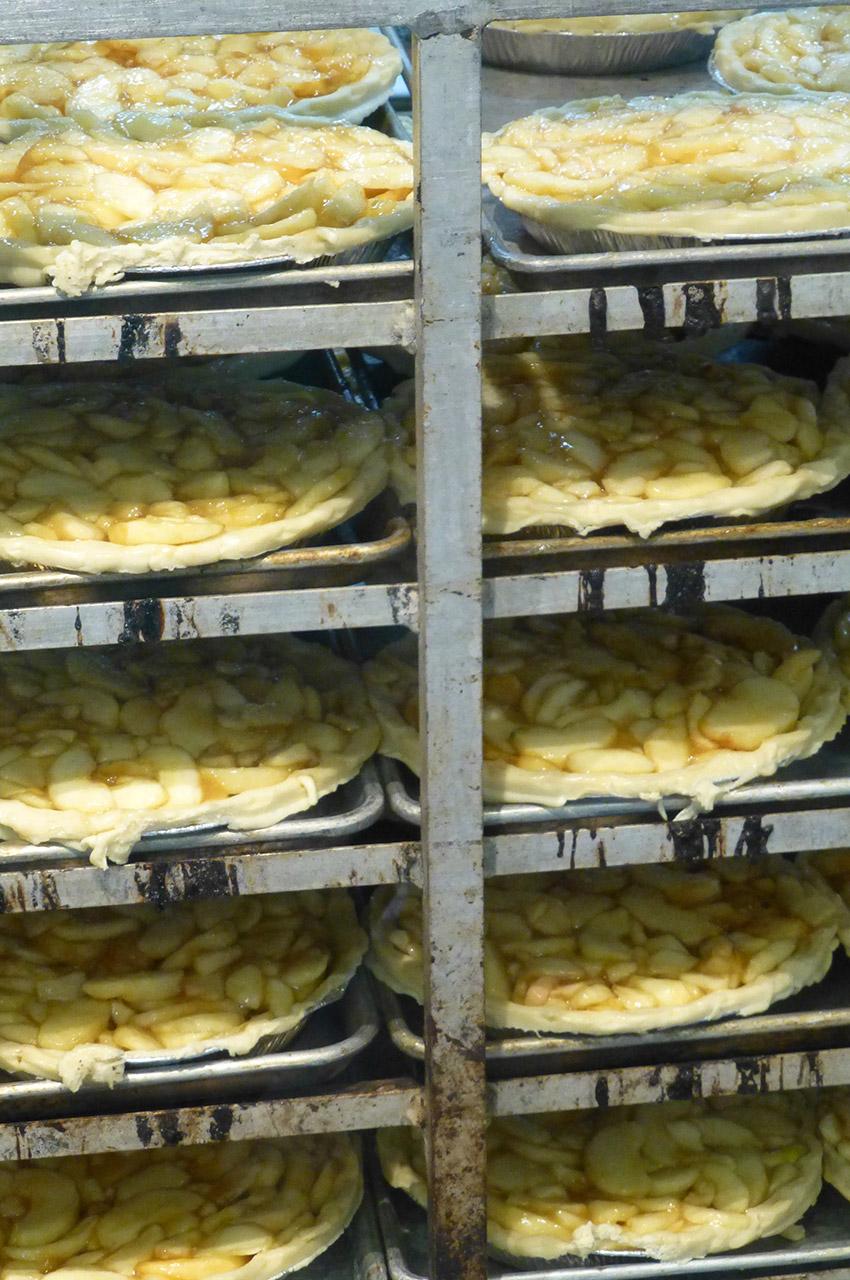 Tartes aux pommes prêtes à cuire