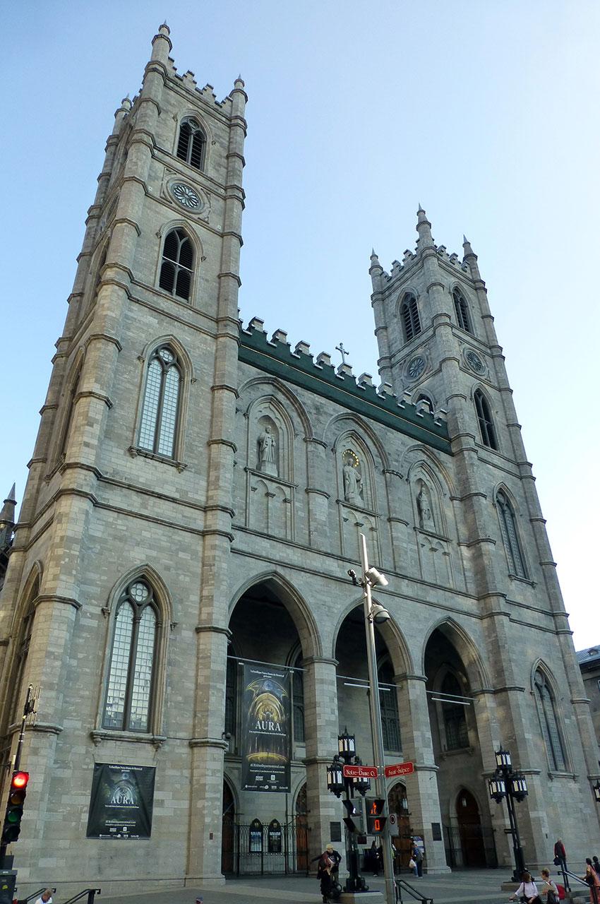 La basilique Notre-Dame à Montréal