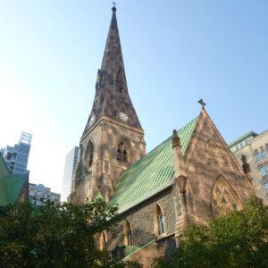 La cathédrale Christ Church au cœur de Montréal