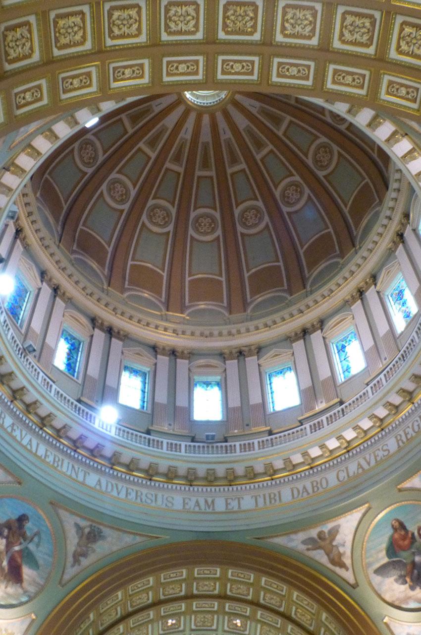 L'intérieur de la coupole de la cathédrale
