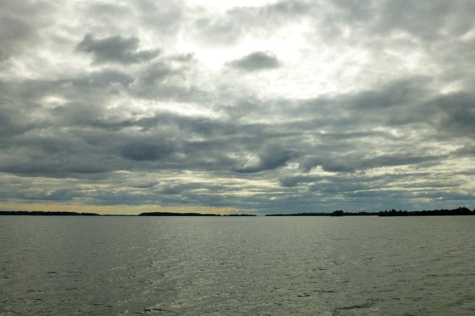 Crépuscule sur le fleuve Saint-Laurent