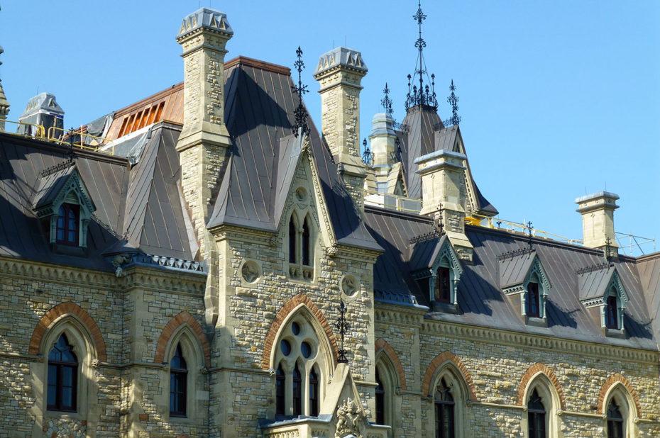 Détail de l'architecture des bâtiments du Parlement