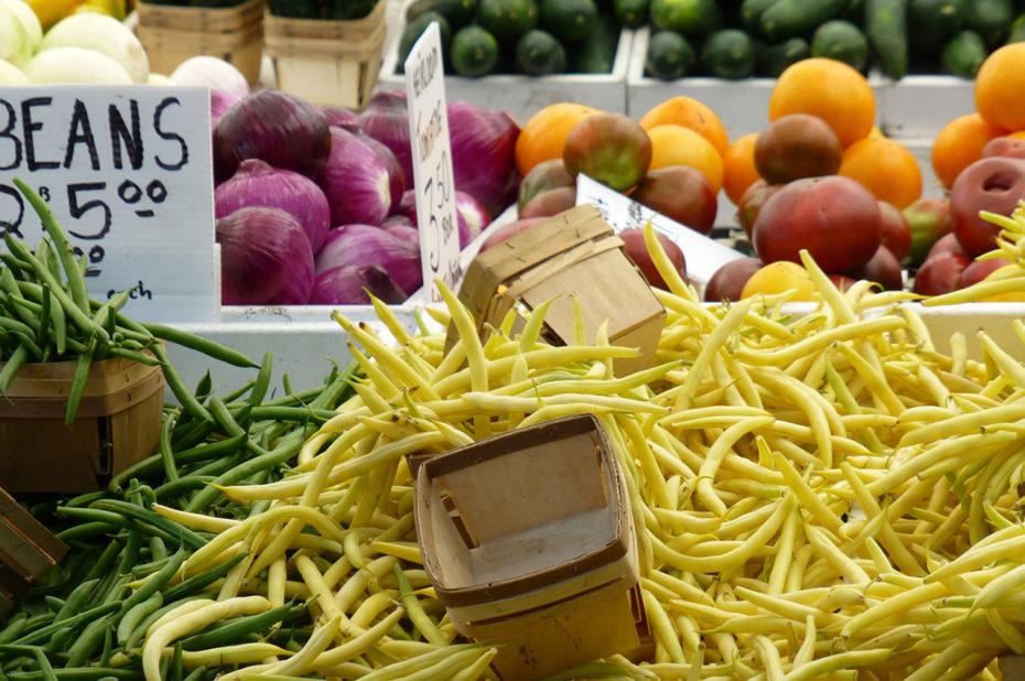 Des haricots verts et des haricots beurre de qualité